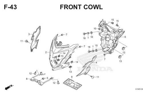 F-43 Front Cowl CB150R StreetFire K15