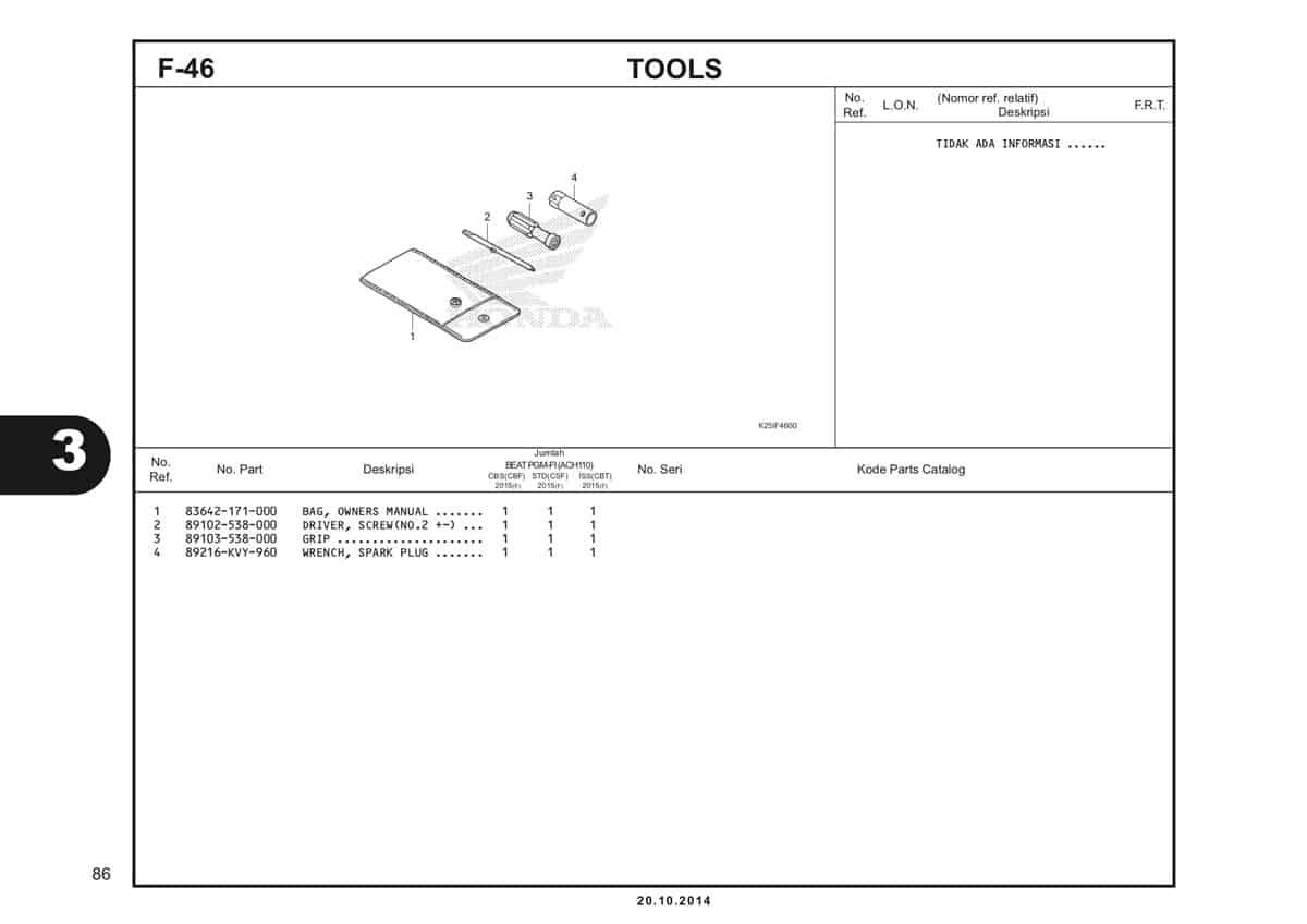 F 46 Tools Katalog BeAT eSP K25