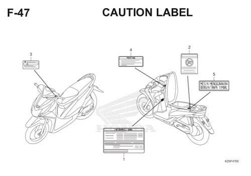 F 47 Caution Label BeAT eSP K25