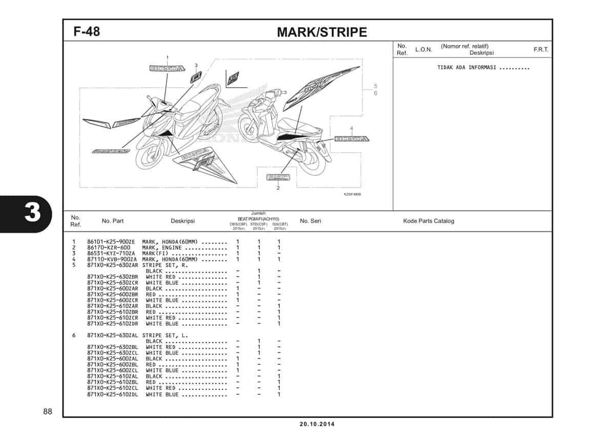 F 48 Mark Stripe Katalog BeAT eSP K25