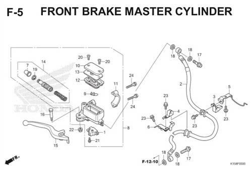 F5 – Front Brake Master Cylinder – Katalog Honda New CB150R StreetFire K15