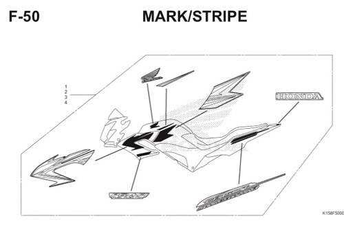 F-50 Mark/Stripe CB150R StreetFire K15