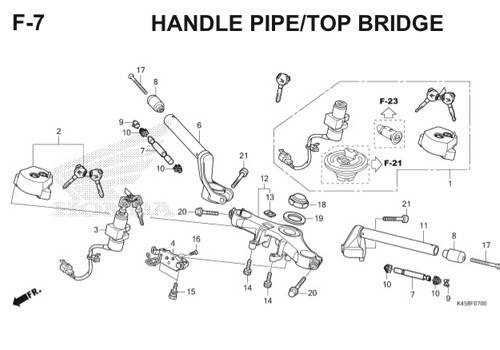 F-7 Handle Pipe/Top Bridge CBR 150R K45A
