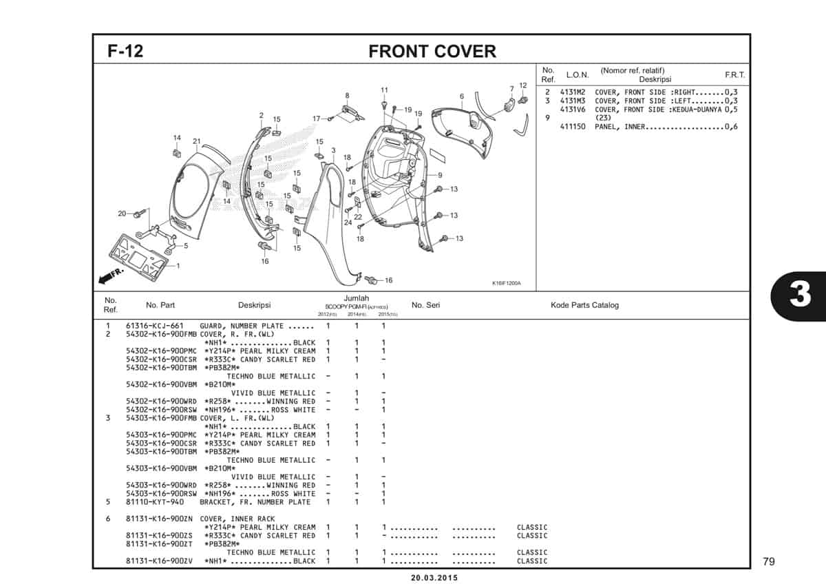 F-12 Front Cover Katalog Scoopy eSP K16
