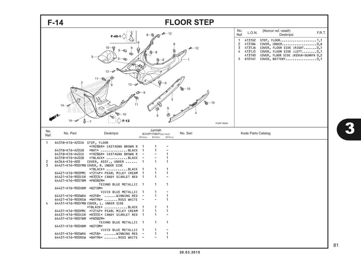 F-14 Floor Step Katalog Scoopy eSP K16