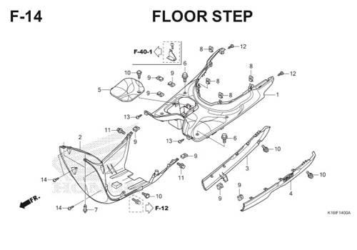 F-14 Floor Step Scoopy eSP K16