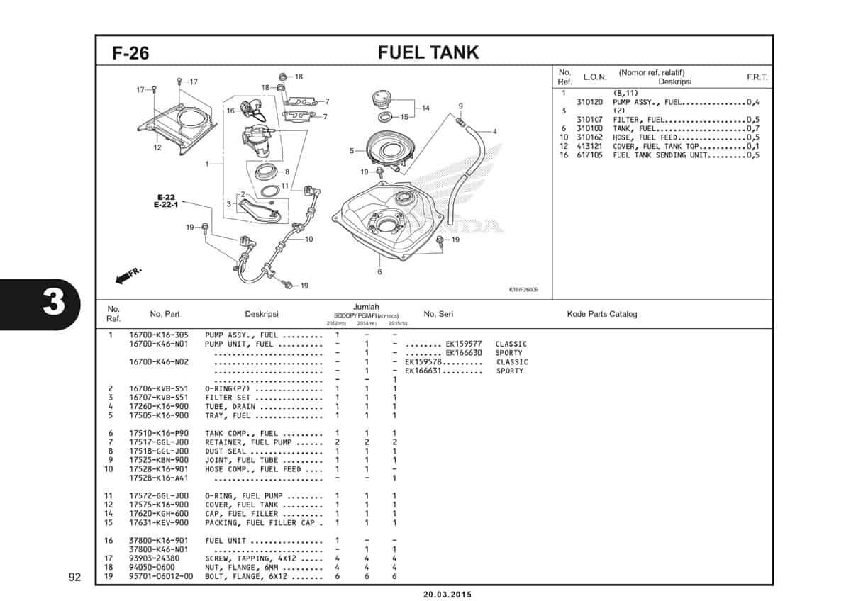 F-26 Fuel Tank Katalog Scoopy eSP K16
