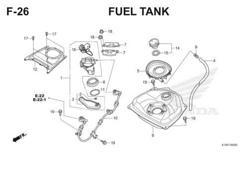 F-26 Fuel Tank Scoopy eSP K16