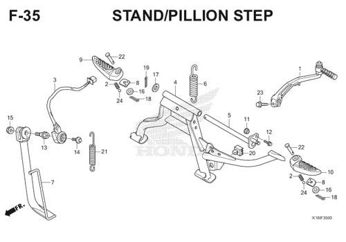 F35 – Stand / Pillion Step – Katalog Honda Scoopy eSP K16