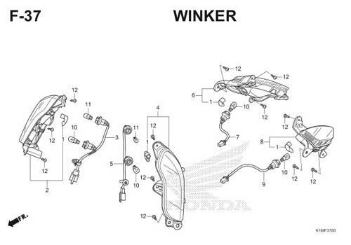 F37 – Winker – Katalog Honda Scoopy eSP K16