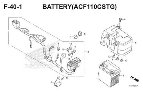 F-40-1 Battery (ACF110CSTG) Scoopy eSP K16