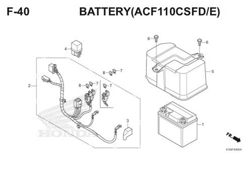 F-40 Battery (ACF110CSFD/E) Scoopy eSP K16