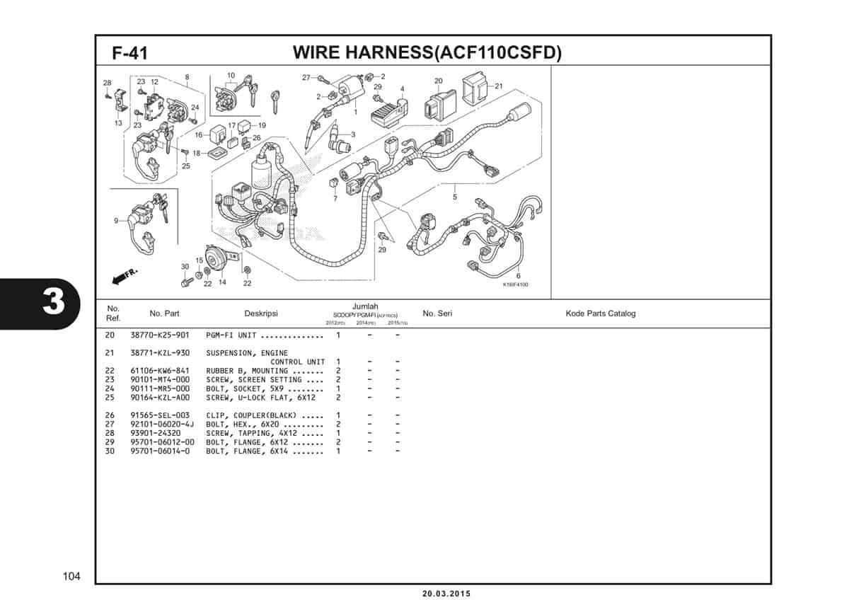 F-41 Wire Harness (ACF110CSFD) Katalog Scoopy eSP K16