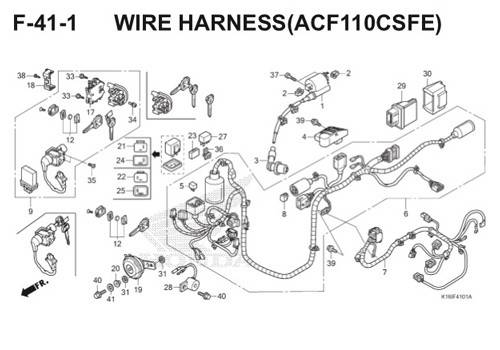 F-41-1 Wire Harness (ACF110CSFE) Scoopy eSP K16