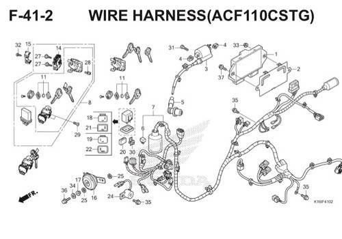 F-41-2 Wire Harness (ACF110CSTG) Scoopy eSP K16