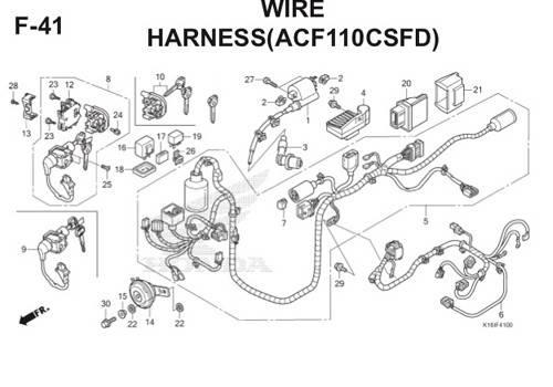 F41 – Wire Harness (ACF110CSFD) – Katalog Honda Scoopy eSP K16