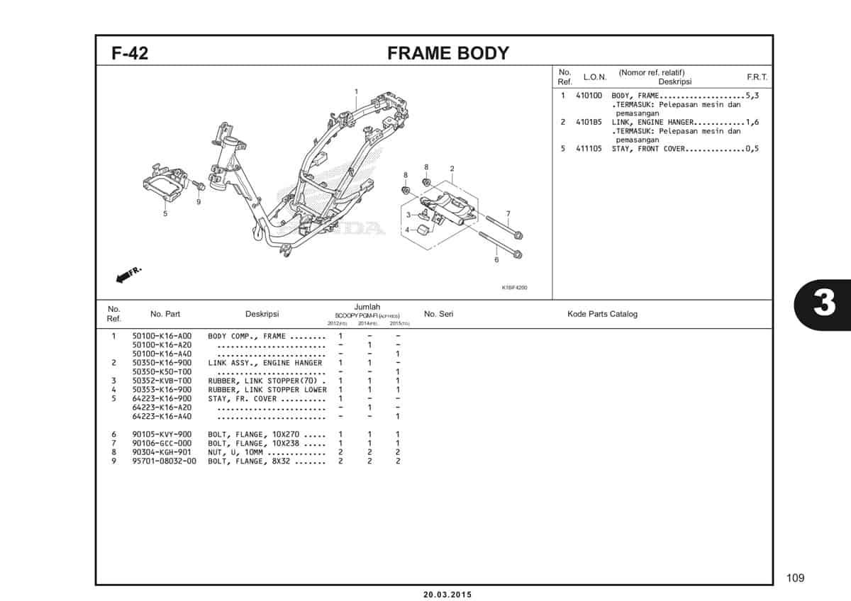 F-42 Frame Body Katalog Scoopy eSP K16