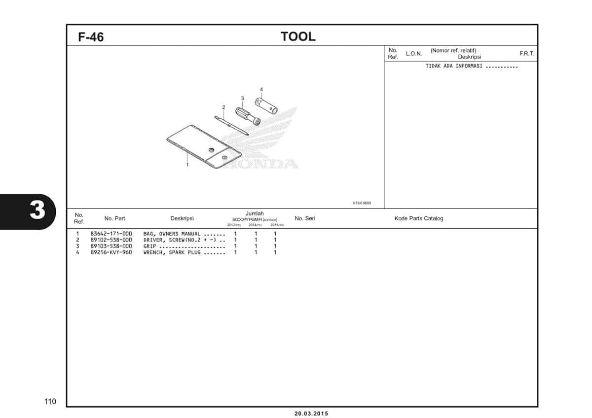 F-46 Tool Katalog Scoopy eSP K16