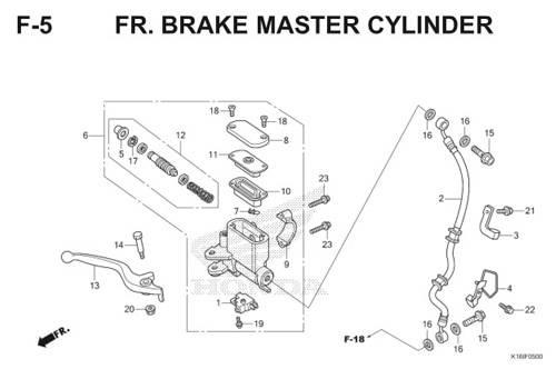 F-5 FR.Brake Master Cylinder Scoopy eSP K16
