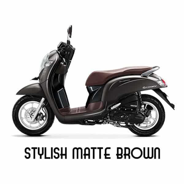 scoopy esp k93 stylish matte brown