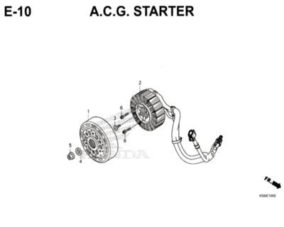 E10 –  A.C.G. Starter – Katalog Honda New Vario 150 K59J