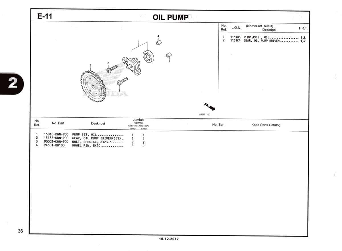 E-11-Oil-Pump-Katalog-Pcx-150-K97
