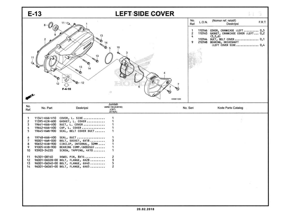 E-13-Left-Side-Cover-Katalog-New-Vario-150-K59J