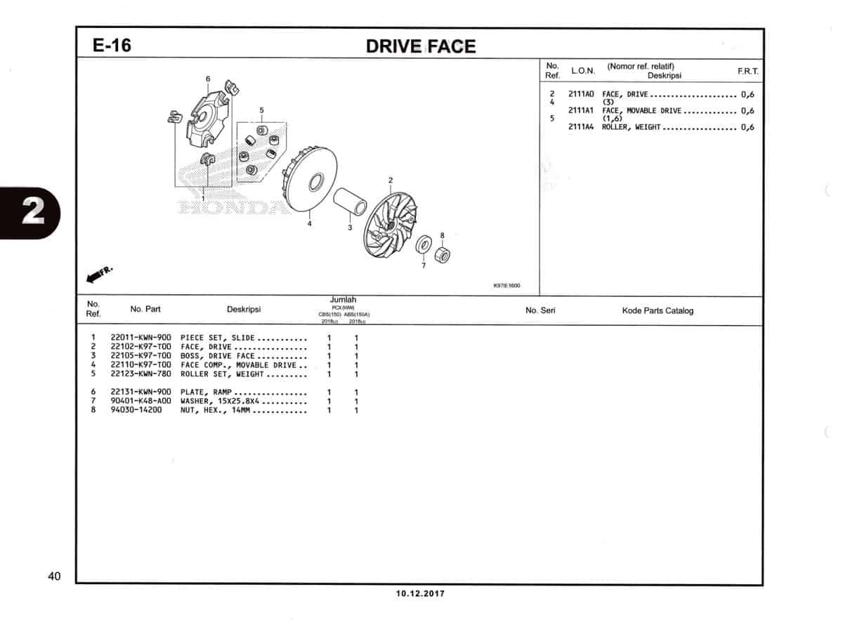E-16-Drive-Face-Katalog-Pcx-150-K97