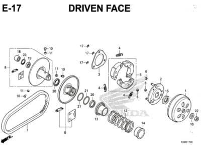 E17 – Driven Face – Katalog Honda New Vario 150 K59J