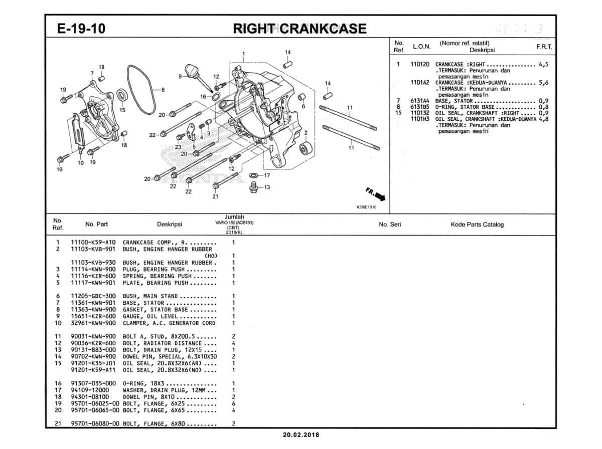 E-19-10-Right-Crankcase-Katalog-New-Vario-150-K59J