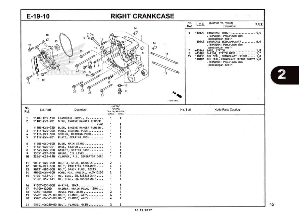 E-19-10-Right-Crankcase-Katalog-Pcx-K97