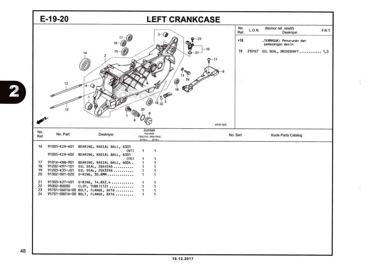 E-19-20-Left-Crankcase-Katalog-Pcx-150-K97