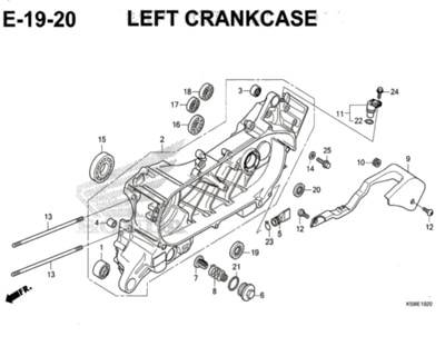E-19-20-Left-Crankcase-New-Vario-150-K59J
