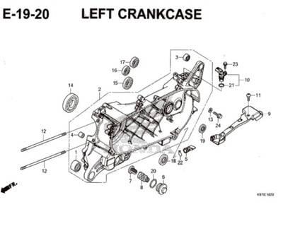E-19-20-Left-Crankcase-Pcx-150-K97