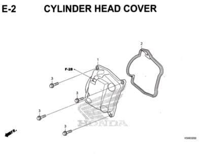 E2 – Cylinder Head Cover – Katalog Honda New Vario 150 K59J