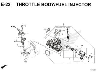 E-22-Throttle-Body-Fuel-Injector-New-Vario-150-K59J