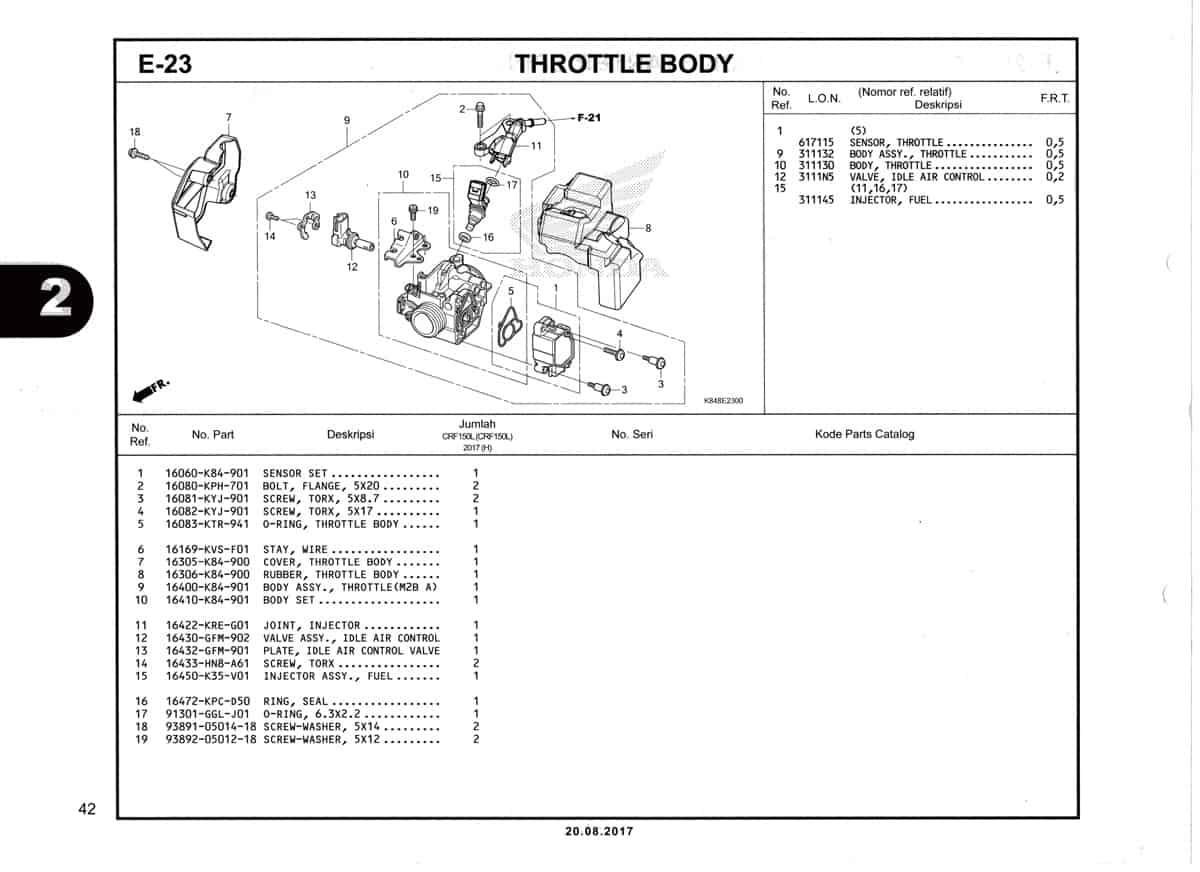 E-23-Throttle-Body-Katalog-Honda-Crf-150L