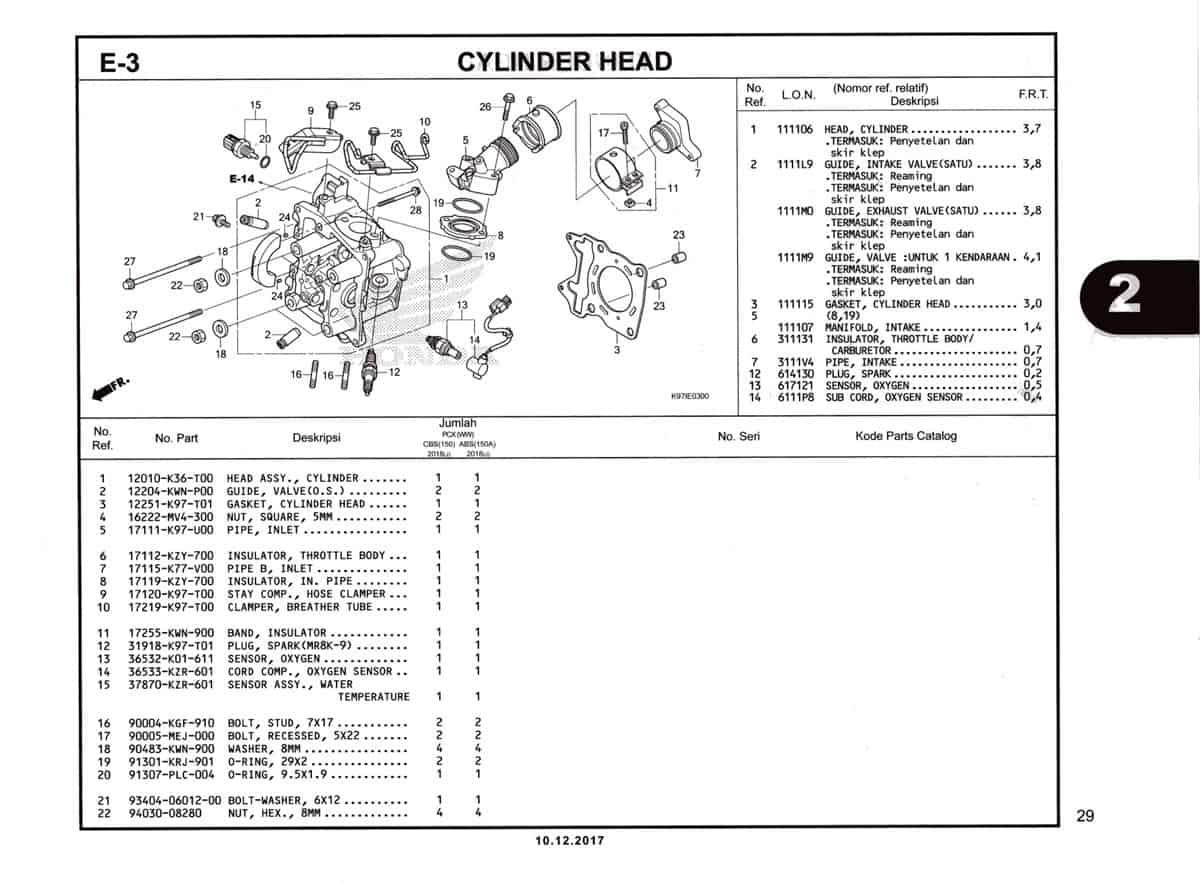 E-3-Cylinder-Head-Katalog-Pcx-150-K97