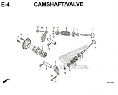 E4- Camshaft / Valve – Katalog Honda PCX 150 K97