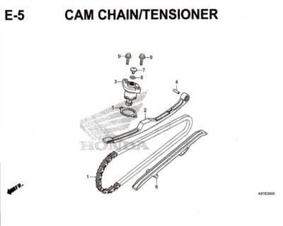 E5- Cam Chain / Tensioner – Katalog Honda PCX 150 K97