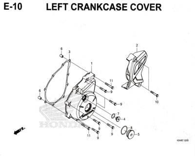 E10-Left-Crankcase-cover-Honda-Crf-150L