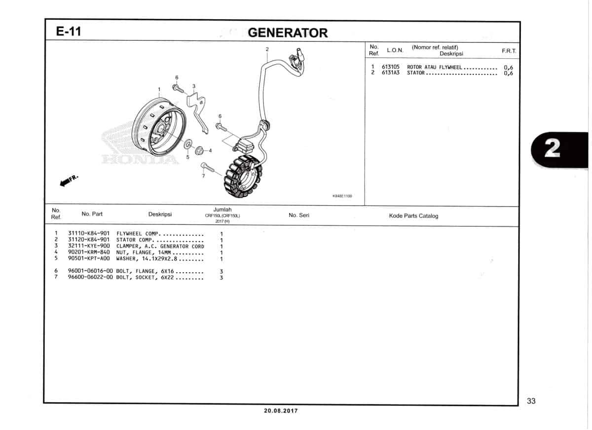E11-Generator-Katalog-Honda-Crf-150L