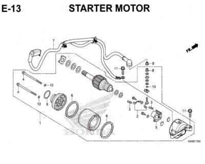 E13 – Starter Motor – Katalog Honda CRF 150L