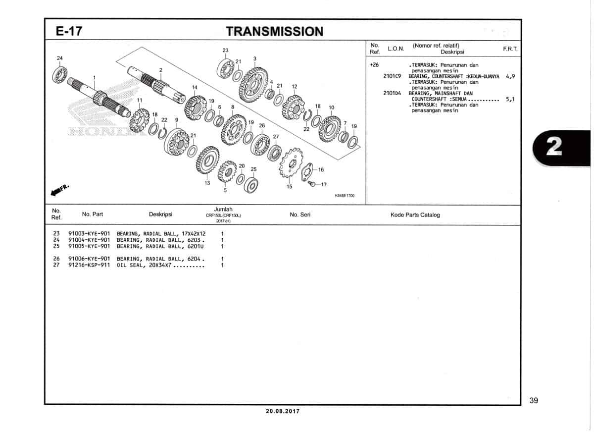 E17-1-Transmission-Katalog-Honda-Crf-150L
