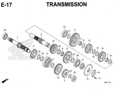 E17 – Transmission – Katalog Honda CRF 150L