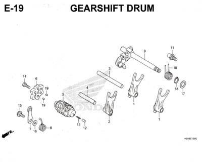 E19-Gearshift-Drum-Honda-Crf-150L