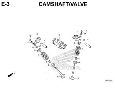 E3 – Camshaft / Valve – Katalog Honda CRF 150L