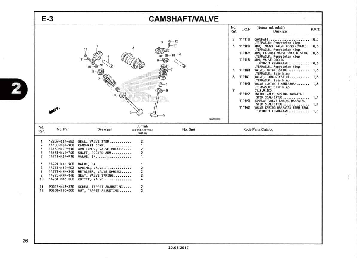 E3-Camshaft-Valve-Katalog-Honda-Crf-150L