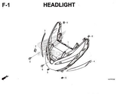F1- Headlight – Katalog Honda PCX 150 K97