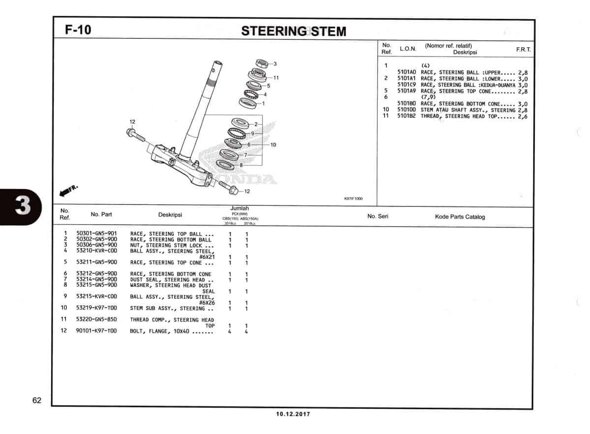F-10-Steering-Stem-Katalog-Pcx-150-K97